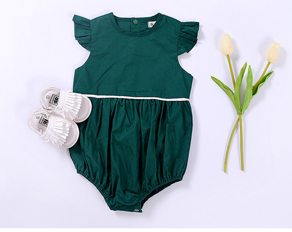 bd1f3c90c907 buy olive green summer flying sleeve linen cotton baby girl rompers clothes  online