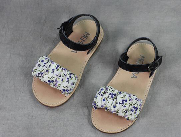 0c6ea73a03322 online wholesale flower print simple flat summer leathert kids girl sandals  shoes china