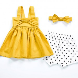 buy newborn kids toddler children mustard cotton baby girl frocks dress online