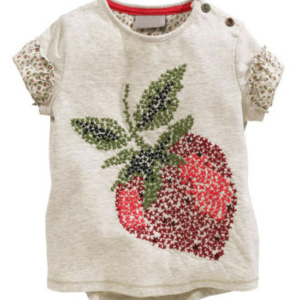 buy sequin strawberry pattern short sleeve plain white cotton kids t shirt summer