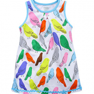 custom print cotton kids baby girl frocks little girl dresses online sale