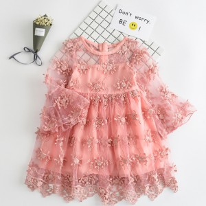 summer lace girl dresses toddler gowns kids baby girl party frocks infant clothing online sale