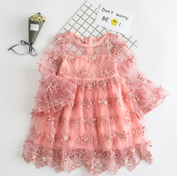 695f90877 summer lace girl dresses toddler gowns kids baby girl party frocks ...