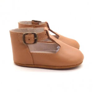 brown flat leather walking t bar girl high top toddler baby shoes booties