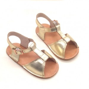 soft sole infant toddler summer cow leather girls boys gold baby sandals wholesale
