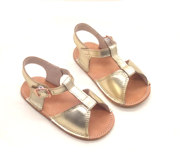 4ca0446236fe soft sole infant toddler summer cow leather girls boys gold baby sandals  wholesale