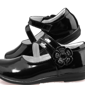 soft real leather black school kids shoes formal party girl dress shoes wholesale