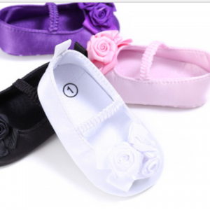 online soft sole christening walking satin baby shoes girls baptism ballet mary jane wholesale
