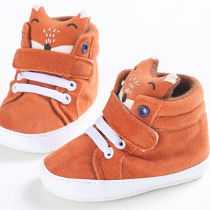 fox pattern fancy girls boys high top best toddler infant sneakers boots online sale