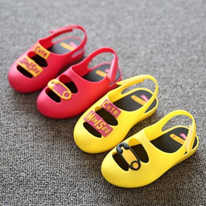 wholesale summer back strap toddler jelly bean slippers girl mary jane sandals shoes