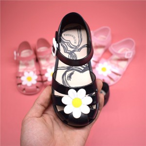 wholesale summer girl gladiator crystal flower flat todder kids jelly sandals shoes