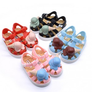 summer cheap closed toe flat clear pvc girls boys todder children kids jelly sandals shoes sale