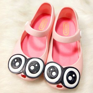wholesale cute pink girl summer water sandals flat jelly shoes for kids toddler children