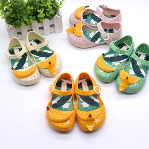 cheap summer gel jelly sandals peeled banana children kids toddler girl mary jane wholesale