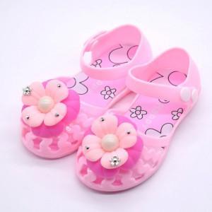 summer flower gel plastic pvc dress shoes infant toddler girl flat jelly sandals sale