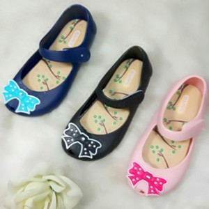 buy cute bow flat heel pvc summer cheap kids jelly sandals shoes online