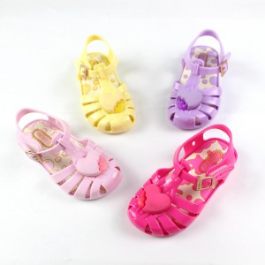 closed toe flats gel pvc cheap children toddler girl jelly sandals shoes wholesale