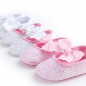 soft sole walking cotton bow girls ballet infant toddler baby dress shoes