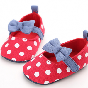 red bottom anti slip soft sole bow newborn baby girl footwear dress shoes