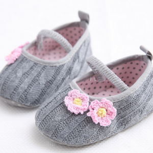 cotton yarn soft touch hand knitting crochet wool infant newborn baby mary jane shoes slippers wholesale