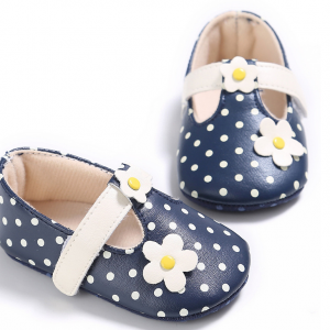 littler flower PU leather pink girl soft sole infant baby todder shoes booties online wholesale