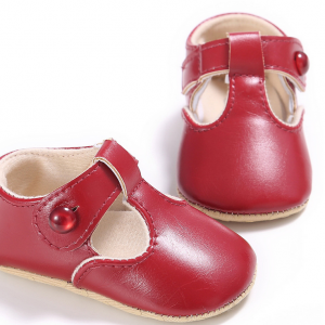 soft pu leather t bar toddler girl newborn infant walking first baby shoes wholesale
