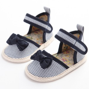 wholesale cotton cheap summer flat infant sandals sale first walking baby girl shoes newborn