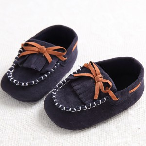 faux suede fabric soft handmade cheap infant baby girls boys toddler loafers wholesale