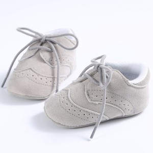 cheap faux suede soft lace up infant todder boy girls baby sneakers oxfords shoes online