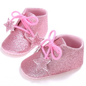 little star cute glitter leather infant slippers toddler baby newborn oxford shoes booties sale