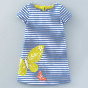 wholesale stripe print cotton newborn latest infant toddler dresses baby girls fall outfits