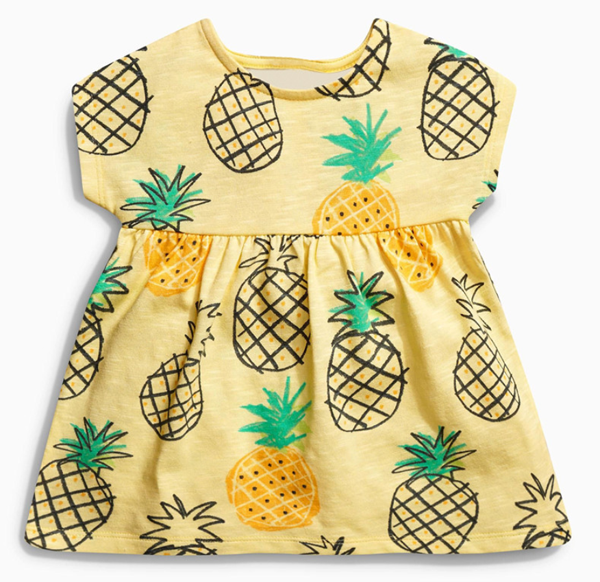2f22e40eb9a04 cute pineapple pattern summer short sleeve sundress infant baby girl peach dress  outfit clothes