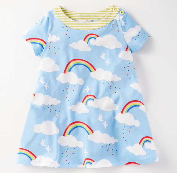 One Year Old Baby Girl Frocks Fancy Design Cotton Infant Toddler