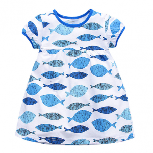 short sleeve cotton one-pieces summer new baby girl clothes dress kids wear sale