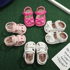 wholesale little girl infant toddler soft leather sound kids squeaky shoes sandals