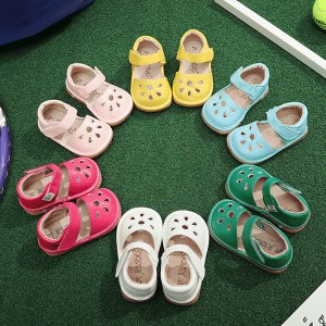 fashion popular cute toddler kids petal squeaky shoes children sound sandals mary jane wholesale