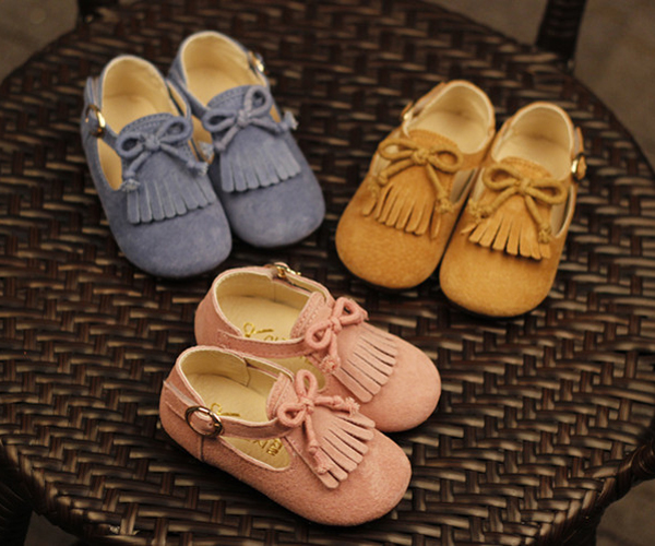 wholesale pu leather tassel moccasins flat bow discount toddler kids girl dress shoes sale