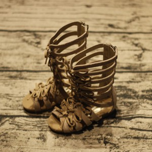 759d2c50c wholesale cheap knee high flats soft leather toddler girls summer baby kids  gladiator sandals shoes