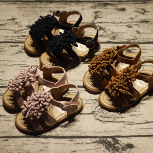 cheap best toddler wide slipe little flower soft pu leather infant girl gladiator sandals cute kids children footwear on sale