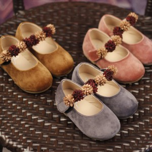 cheap flower fancy flats leather dress shoes for kids girl shoes childrean desgiern mary jane sale