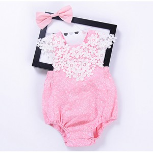buy pink lace cute cheap baby girl summer clothes rompers online