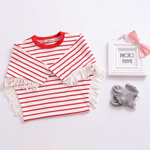 baby boutique clothing cheap baby clothes girl newborn kids t shirt with tassel
