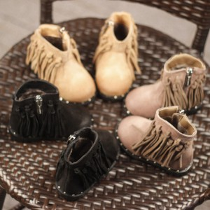 wholesale toddler moccasins booties ankle short winter little leather cowboy cowgirl toddler girl fringe boots