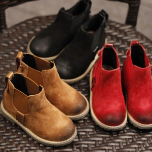 kids chelsea booties soft leather little boy girls toddler ankle boots shoes footwear for children