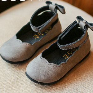 soft leather fashion cheap popular flats girl dress shoes for kids wholesale