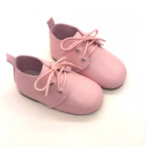 pink flat leather walking leather kids shoes best toddler sneakers wholesale