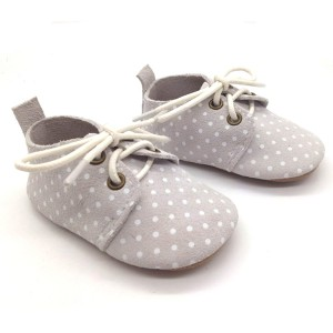 genuine leather baby shoes oxfords polka dots suede infant slippers for sale