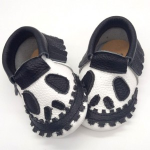 baby footwear halloween handmade leather baby booties moccasins shoes toddler walking slippers wholesale