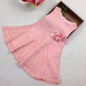 wholesale sample pattern party birthday lace pink baby girl lace dress online