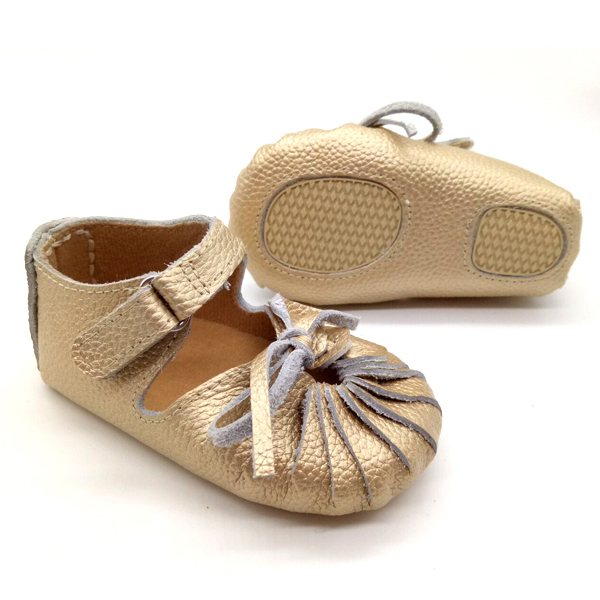 wholesale gold leather summer boy girl rubber sole baby gladiator ...